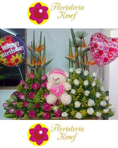 Flores y peluches en Floristería en Cali Kesef