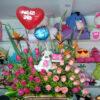 flores y peluches